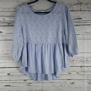 DR2 babydoll lace top size large